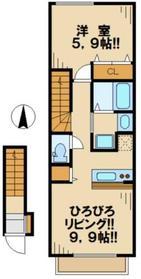 エスポワールIII2階Fの間取り画像