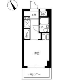 スカイコート鶴見62階Fの間取り画像