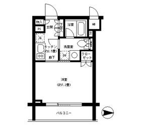 パークキューブ神田4階Fの間取り画像