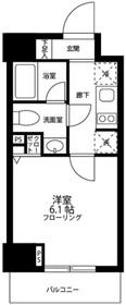グロースメゾン亀戸12階Fの間取り画像