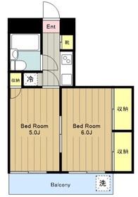 十二番館2階Fの間取り画像