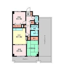 メゾンデフォンティーヌ4階Fの間取り画像