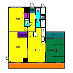 キタ・トマトビル3階Fの間取り画像