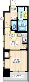 ライオンズステーションプラザ横濱プリマゾーナ9階Fの間取り画像