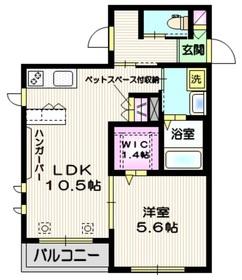Centre Montagne3階Fの間取り画像