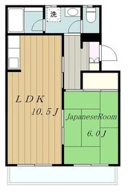 メゾンドK麻溝台2階Fの間取り画像