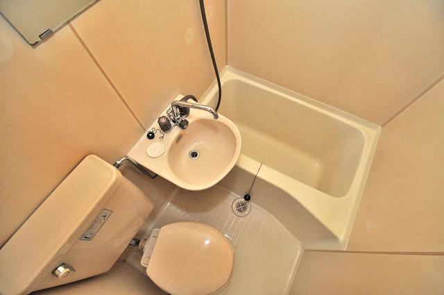 ピースハイツ永和 シャワー一つで水回りが掃除できて楽チンです
