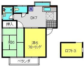 チェリーハイツ2階Fの間取り画像