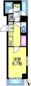 ParkBear業平1階Fの間取り画像