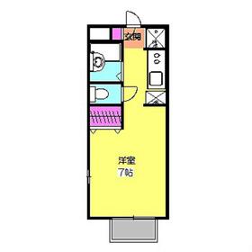 サニーコートII1階Fの間取り画像
