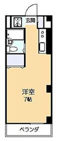 キャッスル南生田1階Fの間取り画像