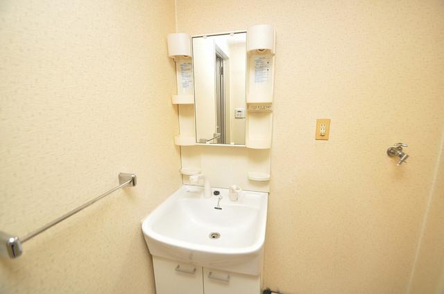 ラ・フォーレ西堤 独立した洗面所には洗濯機置場もあり、脱衣場も広めです。