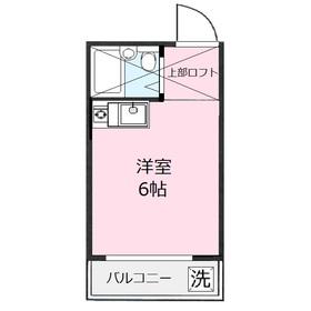 メゾン鶴瀬2階Fの間取り画像