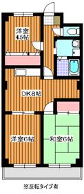 ミナミマンション24階Fの間取り画像