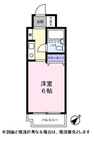 ライオンズマンション関内第六 406号室4階Fの間取り画像