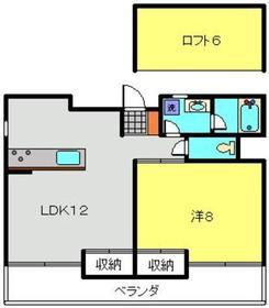 アメニティ高島台4階Fの間取り画像