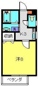 ホワイトパレスレターズ3階Fの間取り画像