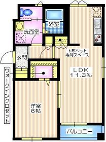 エクセレント西寺尾3階Fの間取り画像