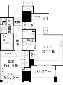 ジオ千代田大手町4階Fの間取り画像