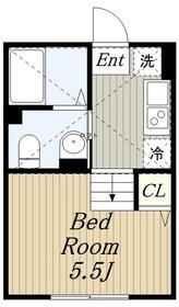 ラシュレ1階Fの間取り画像