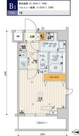 スカイコートパレス錦糸町Ⅱ2階Fの間取り画像
