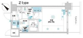 フェニックス横濱関内BAY GAIA10階Fの間取り画像