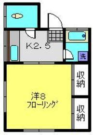 小野アパート2階Fの間取り画像
