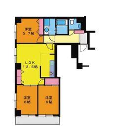 シティメゾン3階Fの間取り画像