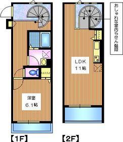 メイプルリーフス2階Fの間取り画像