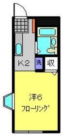 第2安藤ハイツ1階Fの間取り画像