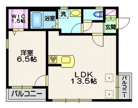 Maison LeBlanc1階Fの間取り画像