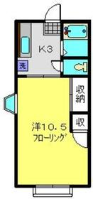 カサエルモーサ2階Fの間取り画像