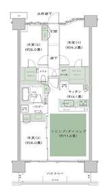 シティテラス横濱サウス ザ・ガーデン9階Fの間取り画像