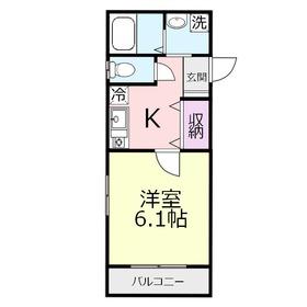 ソレイユ上福岡1階Fの間取り画像