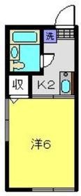 コーポ16521階Fの間取り画像