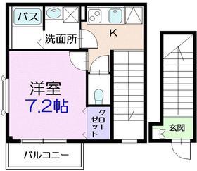 ポアンドール2階Fの間取り画像