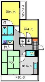 上大岡グリーンハイツB棟4階Fの間取り画像