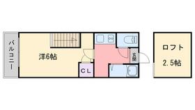 アルコス姪浜2階Fの間取り画像