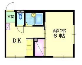 下神明駅 徒歩4分2階Fの間取り画像