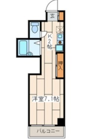 エスポアールカヤギヤ84階Fの間取り画像