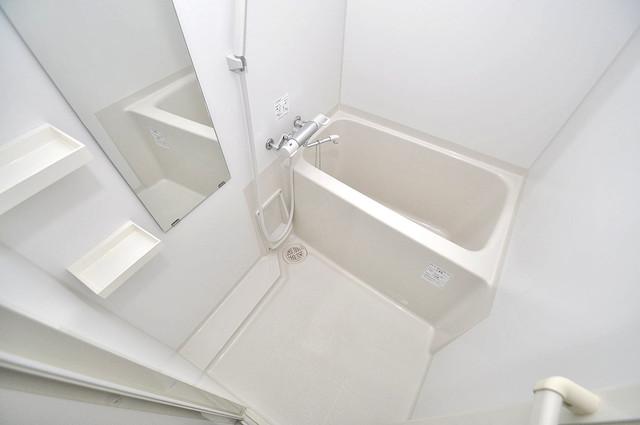サムティ大阪GRAND EAST ちょうどいいサイズのお風呂です。お掃除も楽にできますよ。