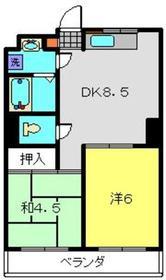 エースビルヤマダ4階Fの間取り画像