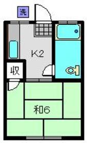藤山荘2階Fの間取り画像