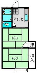 シムラ荘2階Fの間取り画像