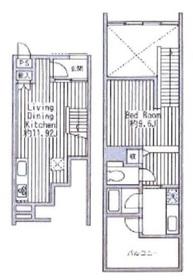 四谷アパートメント3階Fの間取り画像
