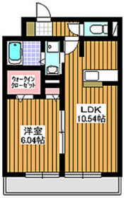 和光市駅 徒歩11分2階Fの間取り画像