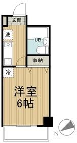 MAC平山城址公園コート6階Fの間取り画像