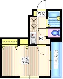 メゾン・マイ1階Fの間取り画像