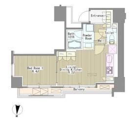 White Tower Hamamatsucho11階Fの間取り画像