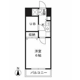 津田山YSビル3階Fの間取り画像